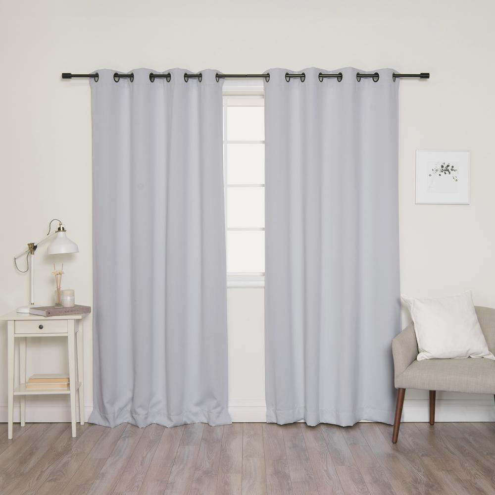 84 in. L Onyx Grommet Blackout Curtains in Vapor (2-Pack)