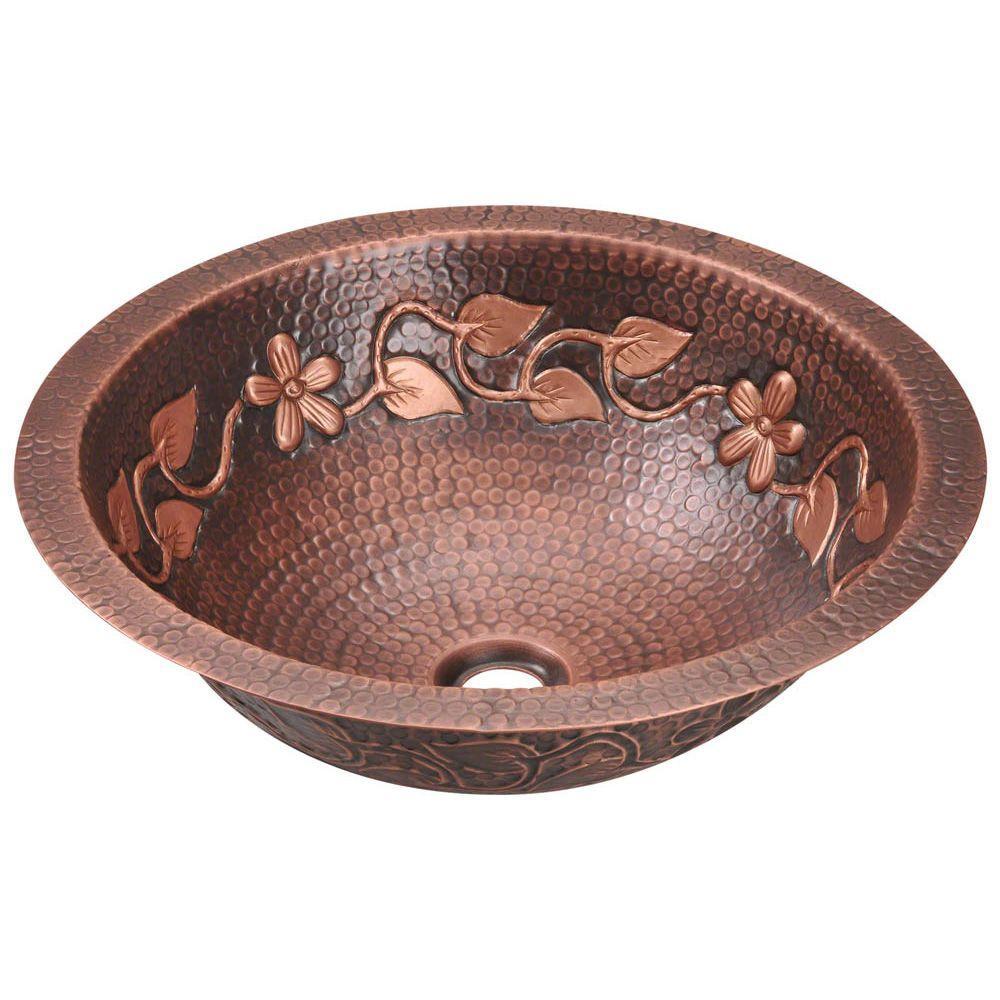 Tri-Mount Bathroom Sink in Copper