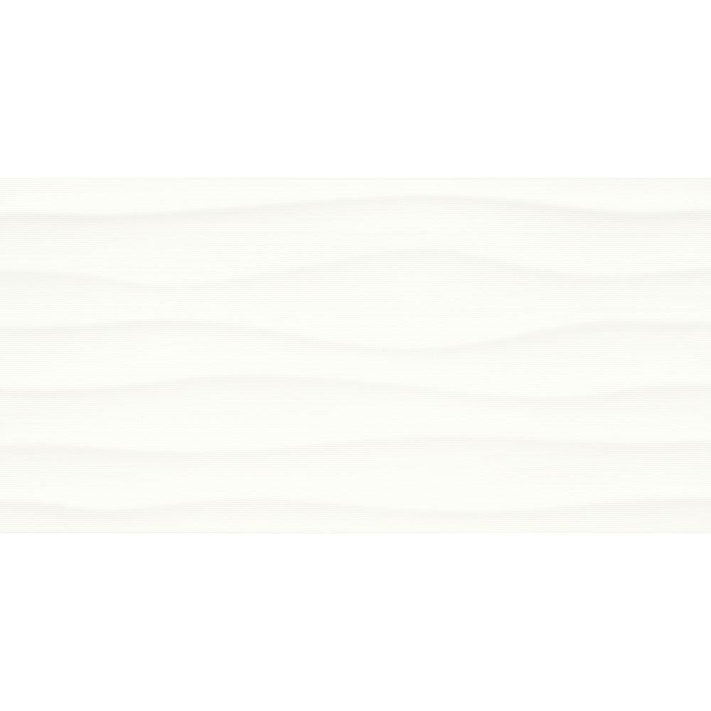 Multitude Origami White 12 in. x 24 in. Glazed Ceramic Wavy