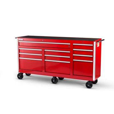 Tech Series 73 in. 11-Drawer Roller Cabinet Tool Chest Red