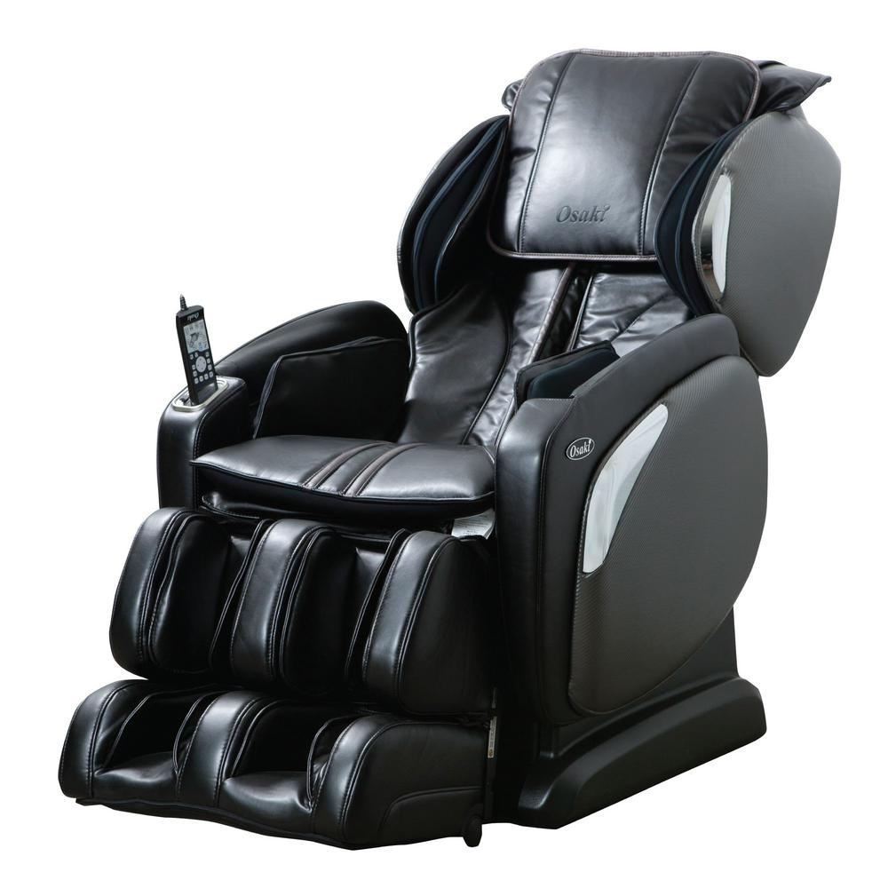 Osaki Black Faux Leather Reclining Massage Chair was $3134.04 now $1849.0 (41.0% off)