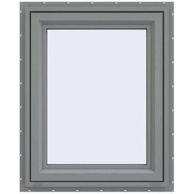 29.5 in. x 35.5 in. V-4500 Series Left-Hand Casement Vinyl Window - Gray