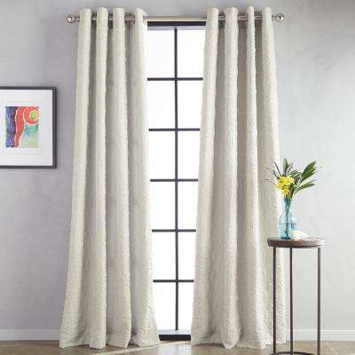 Calista Grommet 52 in. W x 63 in. L Window Panel in Taupe