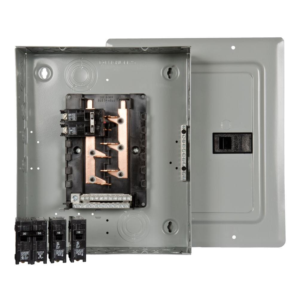 100 Amp 10-Space 20-Circuit Main Breaker Load Center Renovation Value Pack  sc 1 st  The Home Depot : breaker boxes - Aboutintivar.Com