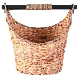 14.5W x 13.7/8H x 10D Rustic Willow Toilet Paper Holder - Magazine Basket