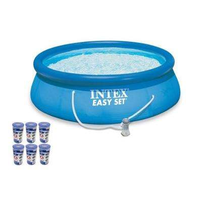 Intex 15 ft. x 48 in. Easy Set Swimming Pool Kit with 1000 GPH GFCI Filter Pump