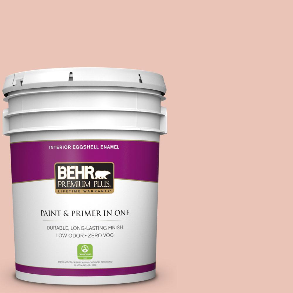 BEHR Premium Plus Home Decorators Collection 5-gal. #HDC-CT-14 Coral Coast Zero VOC Eggshell Enamel Interior Paint