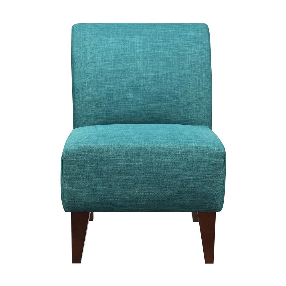 North Accent Slipper Teal Side Chair