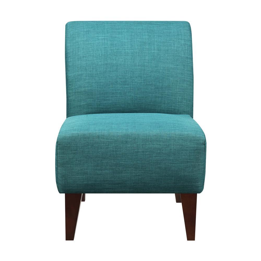 Astounding North Accent Slipper Teal Side Chair Usc087100Ca The Home Frankydiablos Diy Chair Ideas Frankydiabloscom