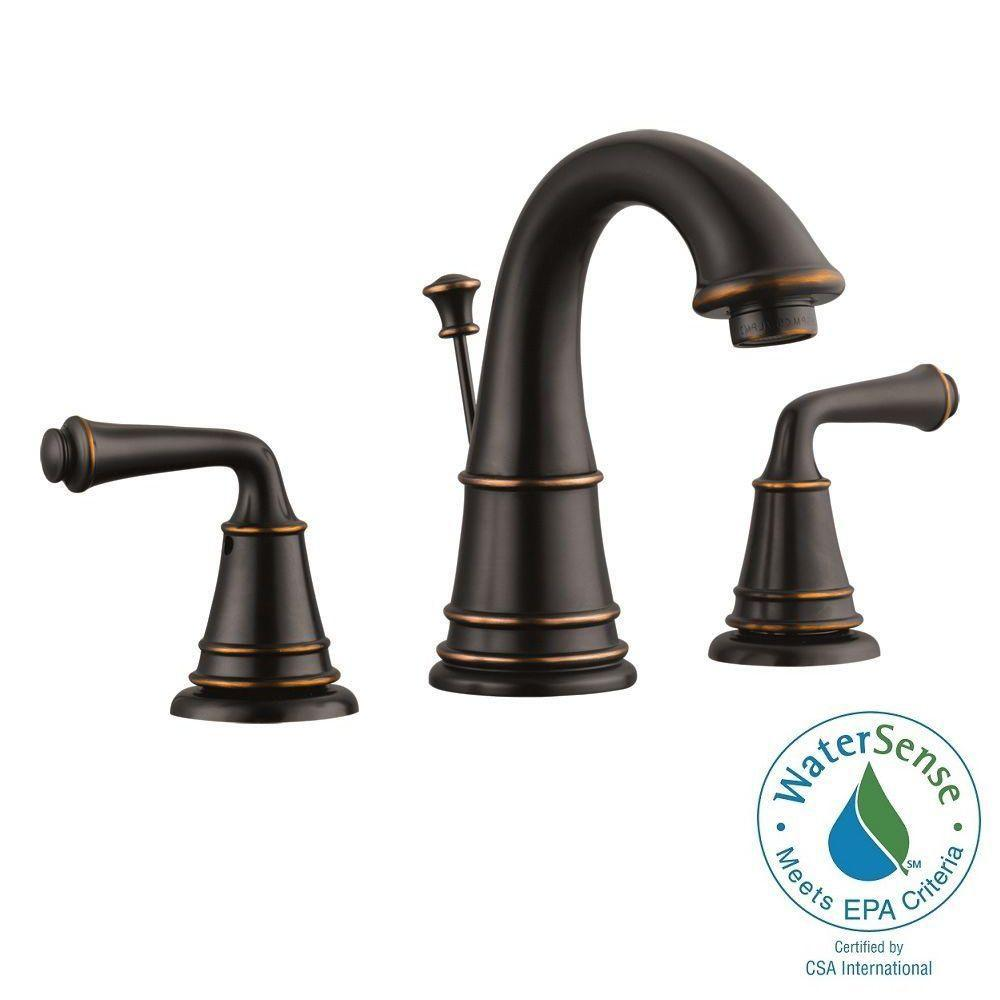 Design house eden 8 in widespread 2 handle bathroom faucet in oil rubbed bronze 524579 the for Oil rubbed bronze bathroom faucets