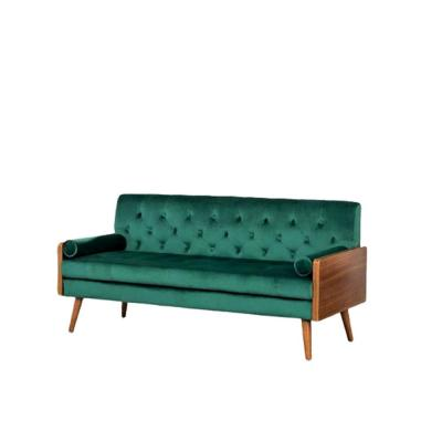 Christie 68.5 in. Green Velvet 3-Seater Lawson Sofa with Square Arms