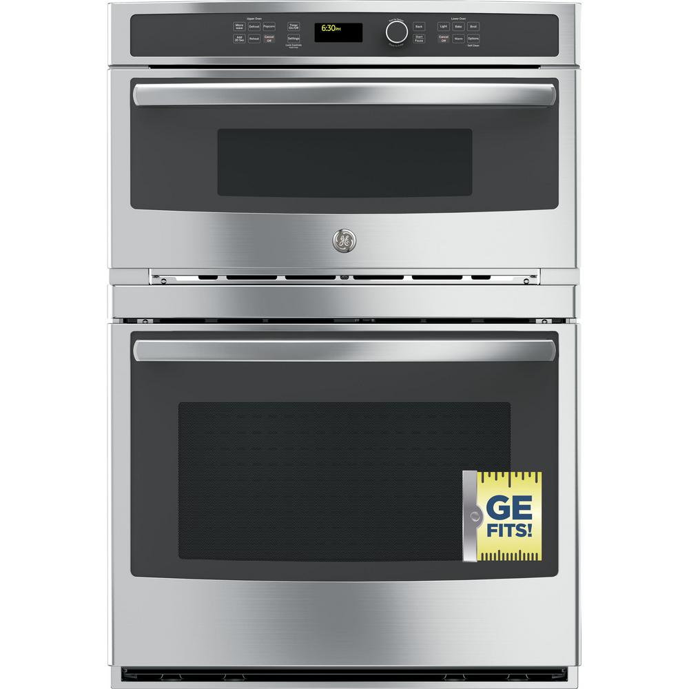 Double Electric Wall Oven With Built In Microwave Stainless Steel