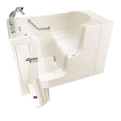 Gelcoat Value Series 52 in. Left Hand Walk-In Soaking Tub with Outward Opening Door in Linen
