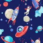 Starship Blue Paper Strippable Wallpaper (Covers 57.26 sq. ft.)