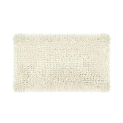 Butter Chenille 27 in. x 45 in. Bath Mat in Ivory