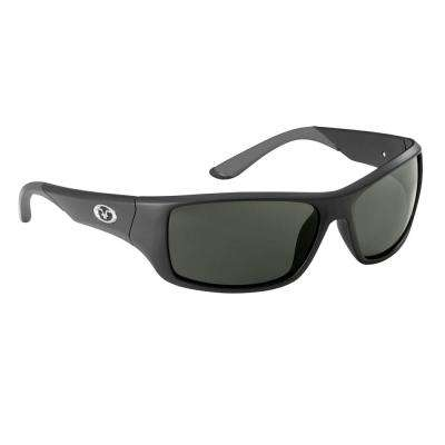 Triton Polarized Sunglasses Matte Black Frame with Smoke Lens