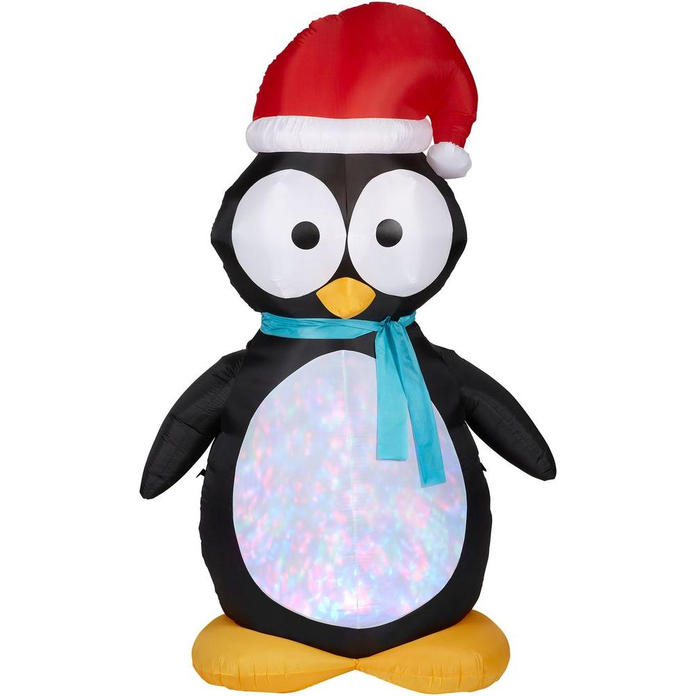 Gemmy 7.5 ft. H Kaleidoscope Inflatable Penguin-87752 - The Home Depot