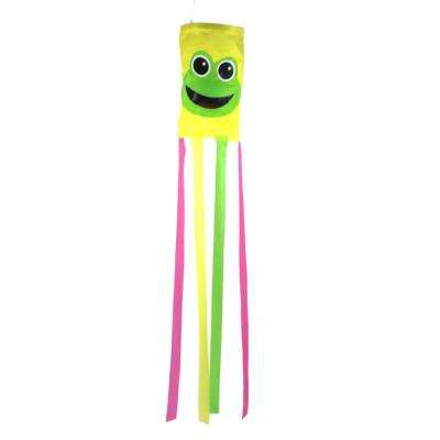 36 in. Happy Frog Multi-Color Wind Sock