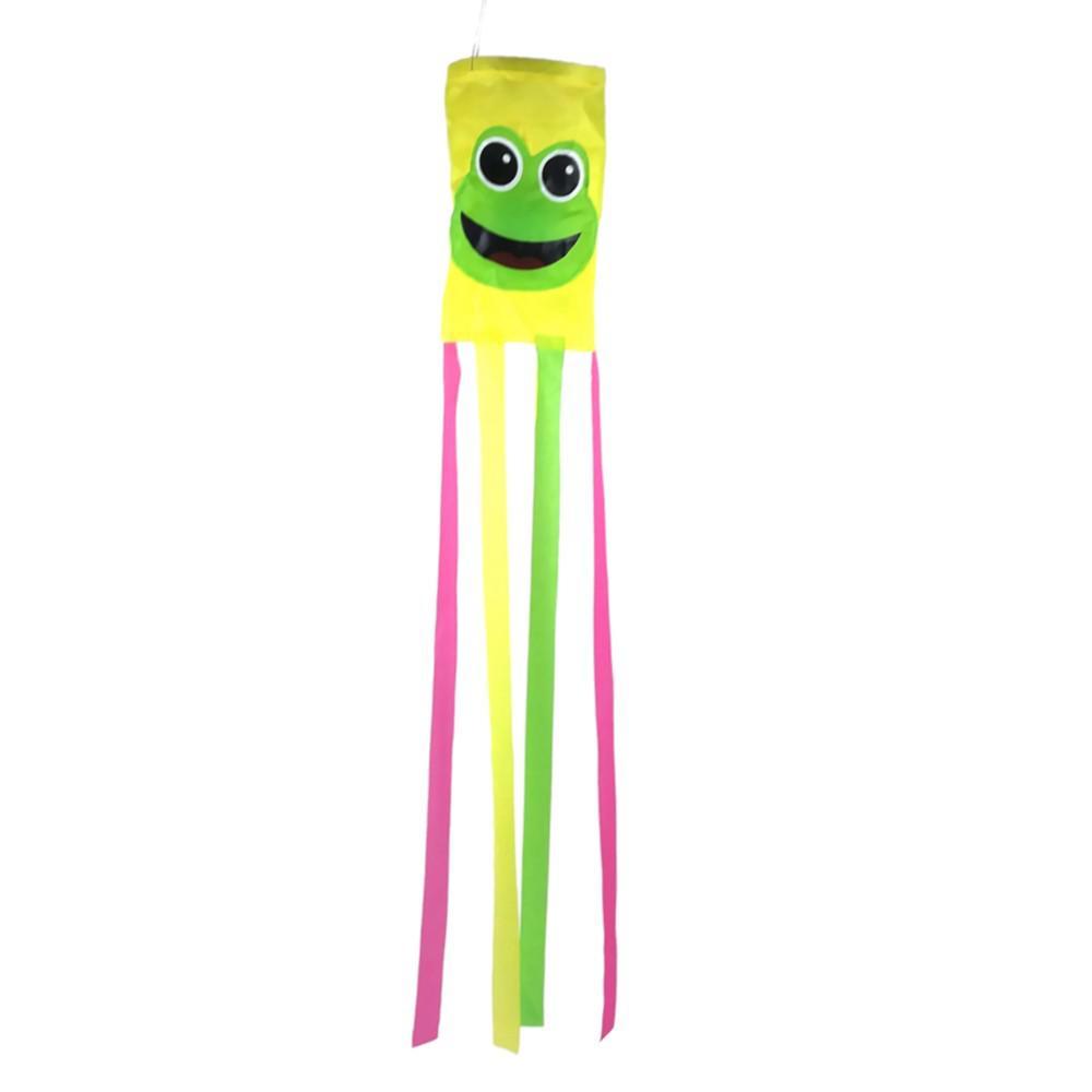 36 in. Happy Frog Multi-Color Wind Sock
