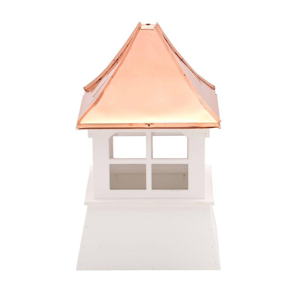 HomePlace Structures Williamsburg 24 in. x 24 in. x 39 in. Composite Vinyl Cupola with Copper Roof