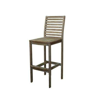 Renaissance Hand-Scraped Wood Outdoor Bar Stool