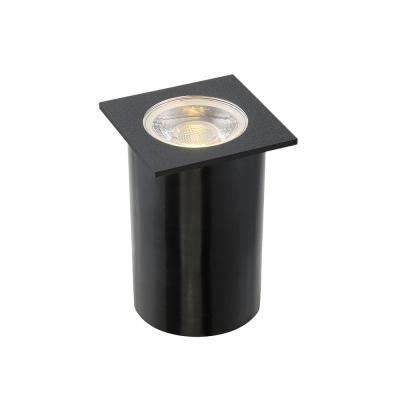 4.5-Watt Black Outdoor Integrated LED Landscape Well Light