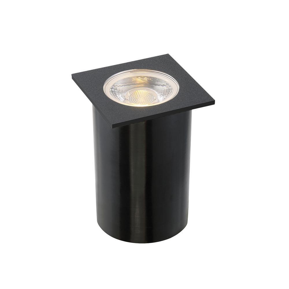 Eurofase 4.5-Watt Black Outdoor Integrated LED Landscape Well Light