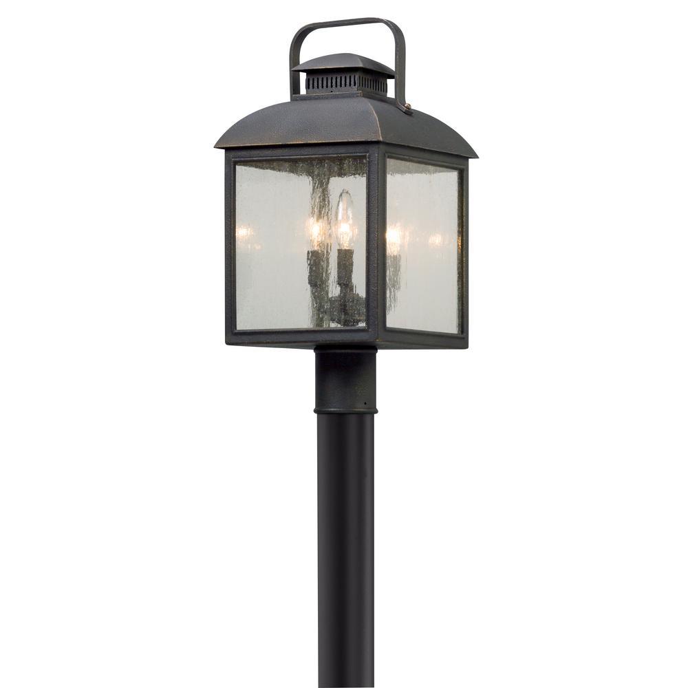 Chamberlain 3-Light Outdoor Vintage Bronze Post Light