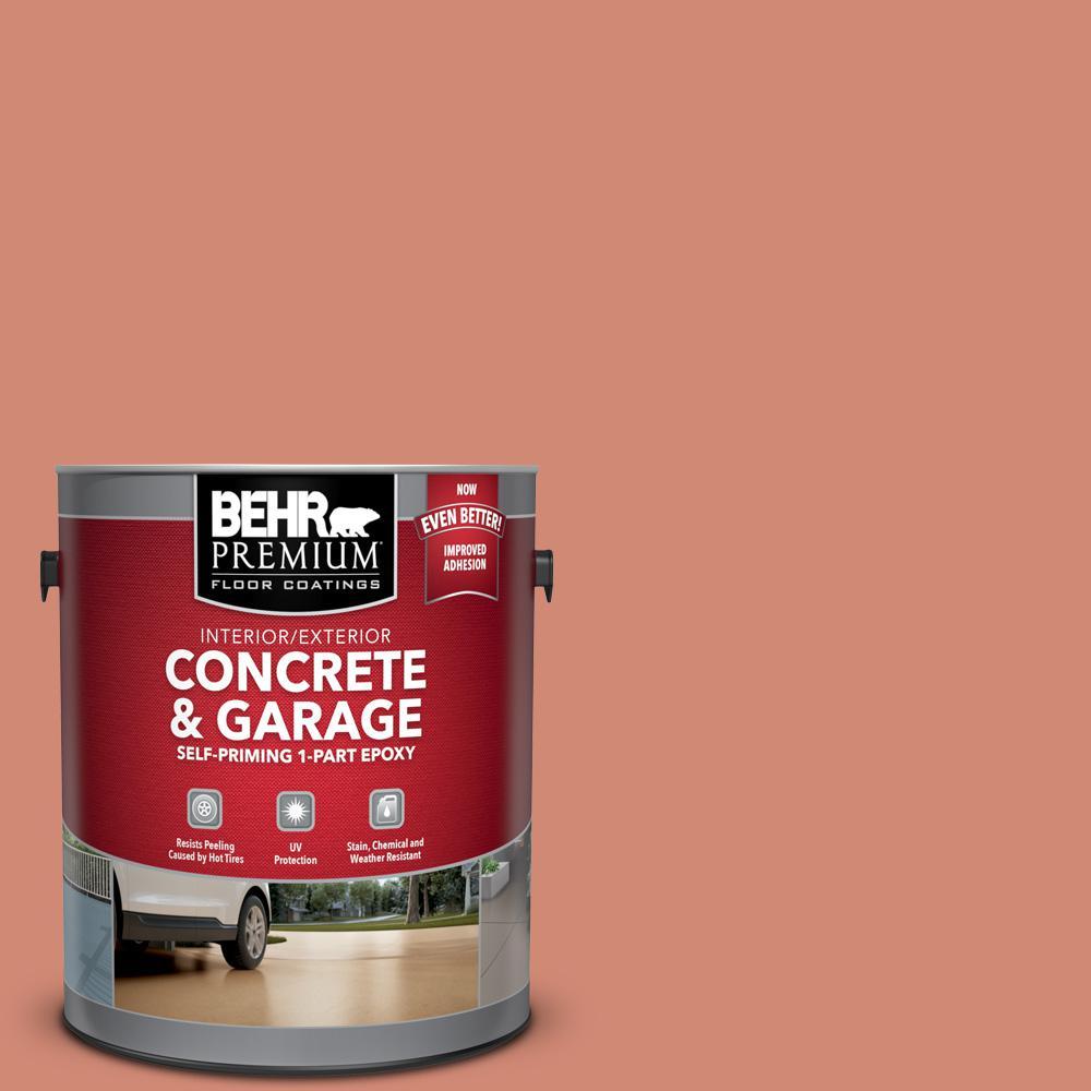 BEHR Premium 1 gal. #M190-5 Fireplace ow Self-Priming 1-Part Epoxy Satin Interior/Exterior Concrete and Garage Floor Paint