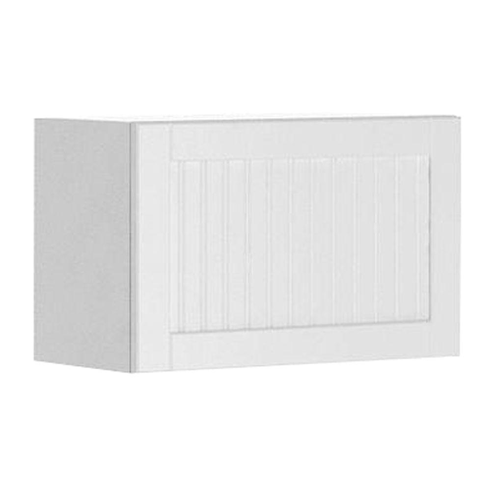 Eurostyle Ready to Assemble 24x15x12.5 in. Odessa Wall Bridge Cabinet in White Melamine and Door in White