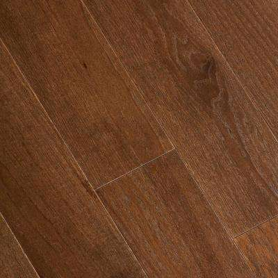Wire Brushed Forest Trail Hickory 3/8 in. T x 5 in. W x Varying Length Click Lock Hardwood Flooring (19.686 sq.ft./case)