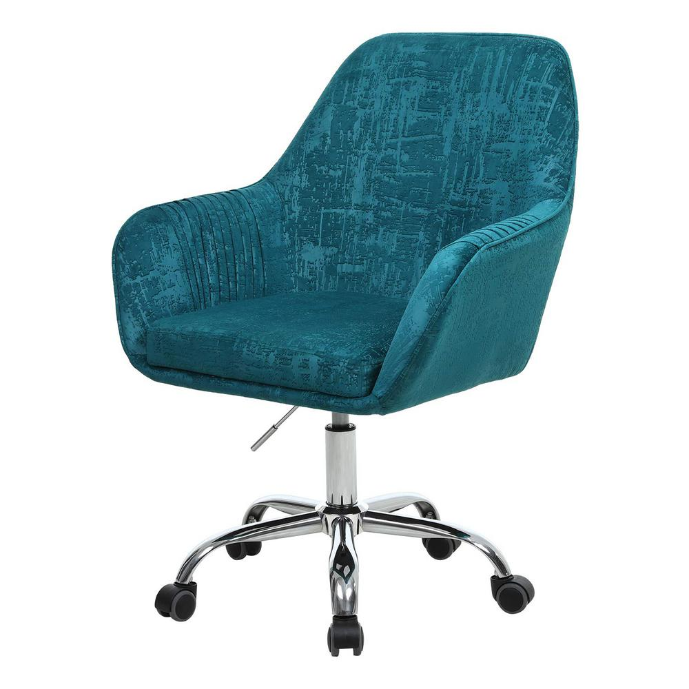 Boyel Living Green Velvet Swivel Office Desk Chair Modern Accent Chair with  Arm-WF-HFSN-30G - The Home Depot