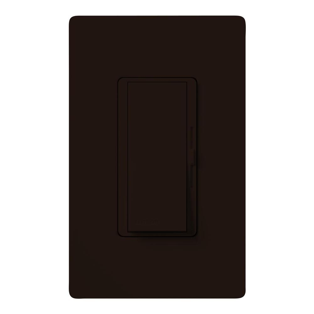 Lutron Diva 300-Watt Single-Pole Electronic Low-Voltage Dimmer - Brown