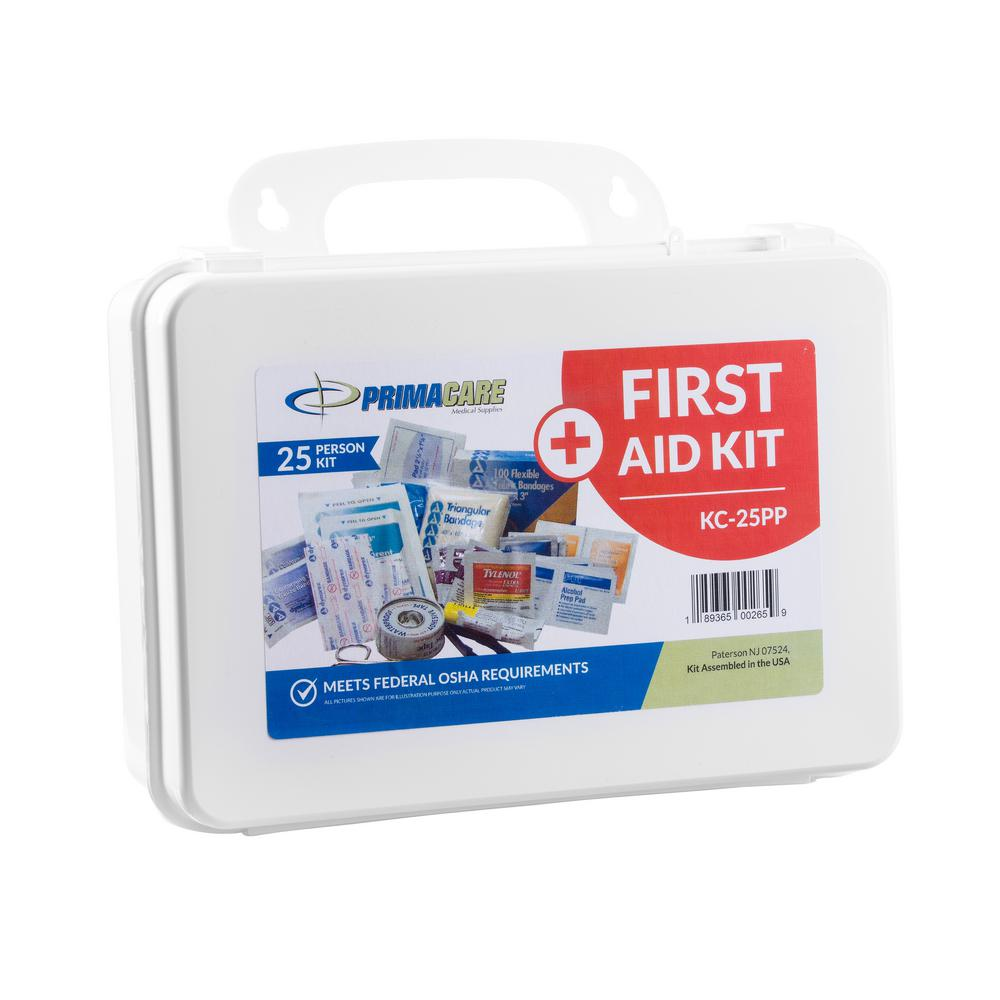 145-Piece 25-Person OSHA Poly First Aid Kit