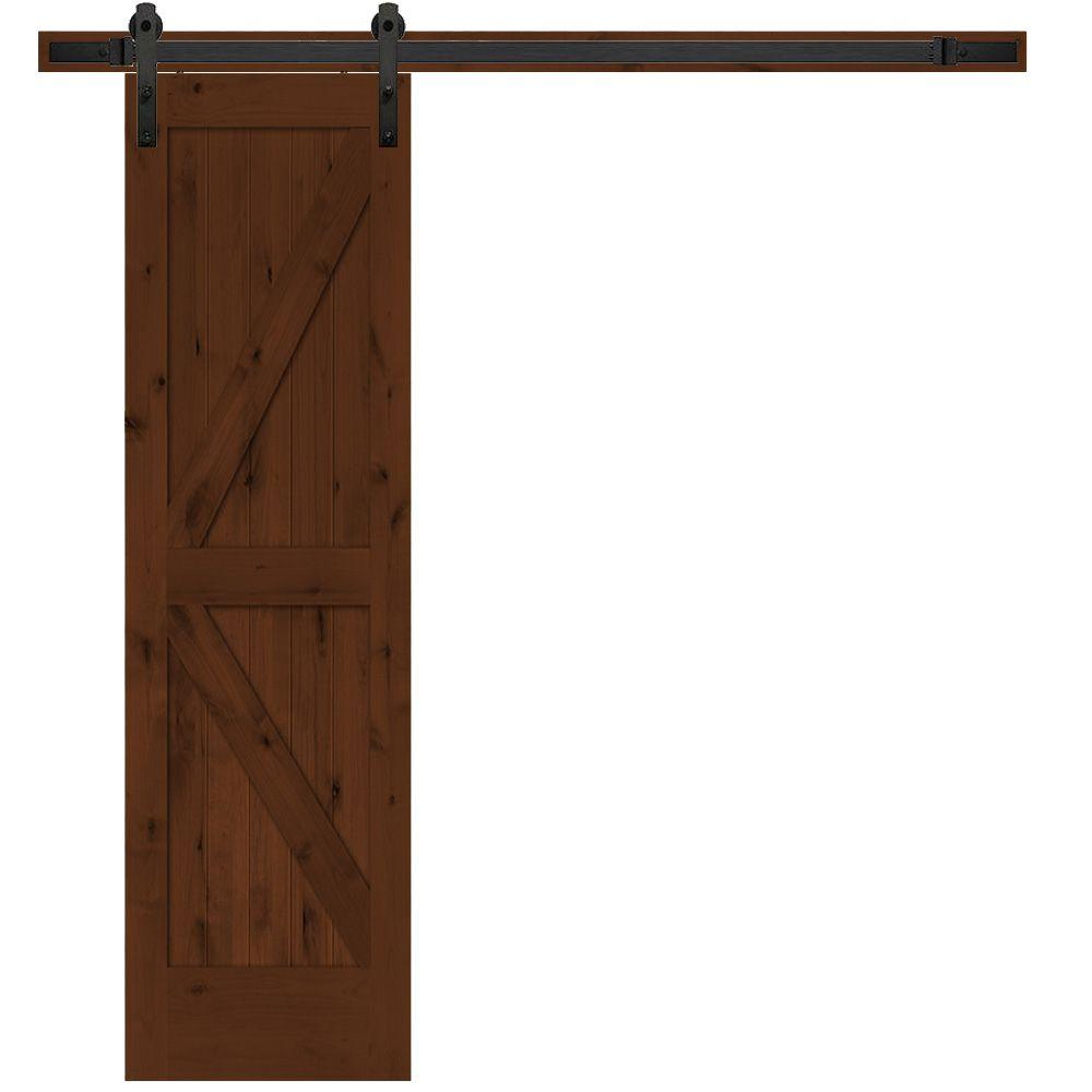 Steves U0026 Sons 24 In. X 84 In. Rustic 2 Panel Stained Knotty