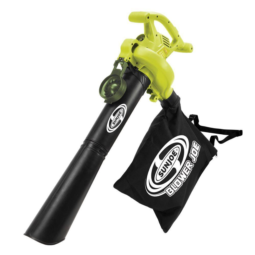 Leaf Blower Joe 240 MPH 300 CFM Handheld 13 Amp Electric 3-in-1 Leaf Blower/Vacuum/Mulcher