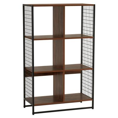 Hickory Free-Standing 3-Tier Metal Mesh 6-Cube Shelving Unit (28.23 in. W x 41.93 in. H x 13.23 in. D)