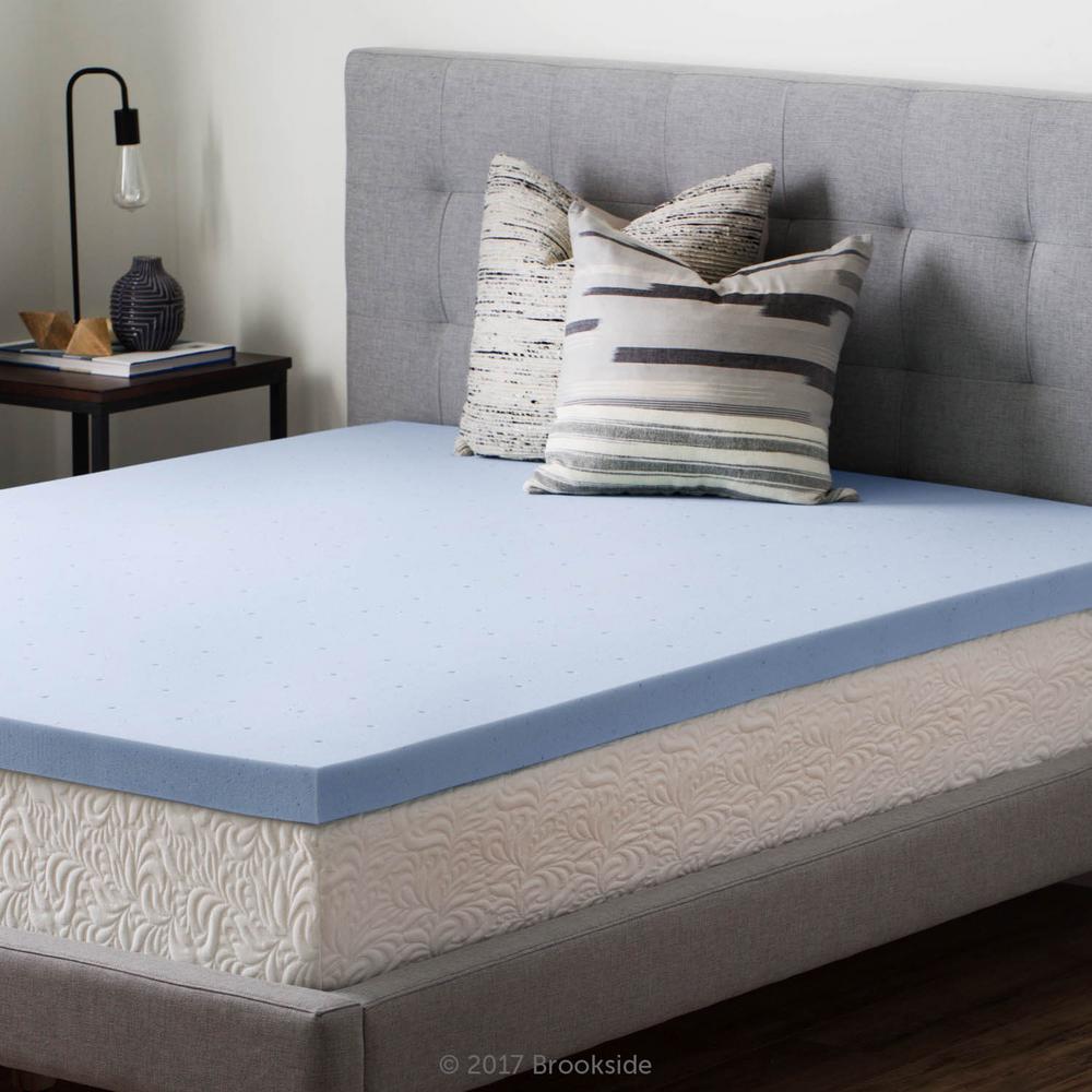 home depot mattress topper Brookside 2.5 in. King Gel Infused Memory Foam Mattress Topper  home depot mattress topper