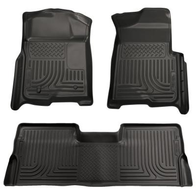 Husky Liners Front /& 2nd Seat Floor Liners Fits 12-16 F250 Crew w// foot rest 99713