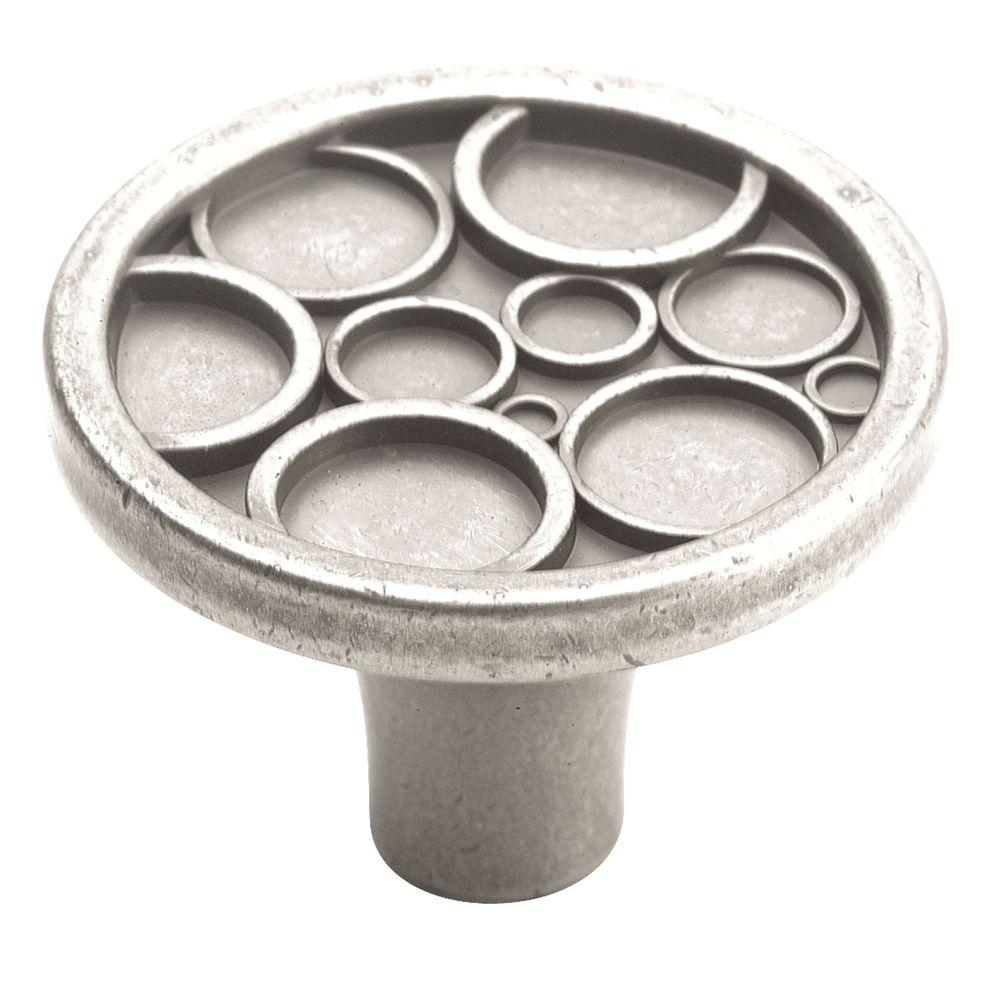 Amerock Playful Nature 1-1/2 in. Weathered Nickel Cabinet Knob