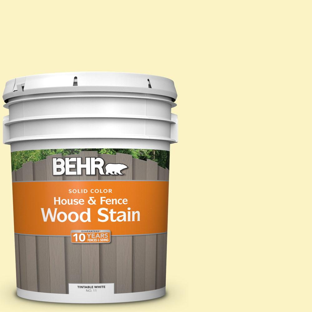 Behr 5 Gal P310 2 Natural Light Solid Color House And Fence Exterior Wood Stain