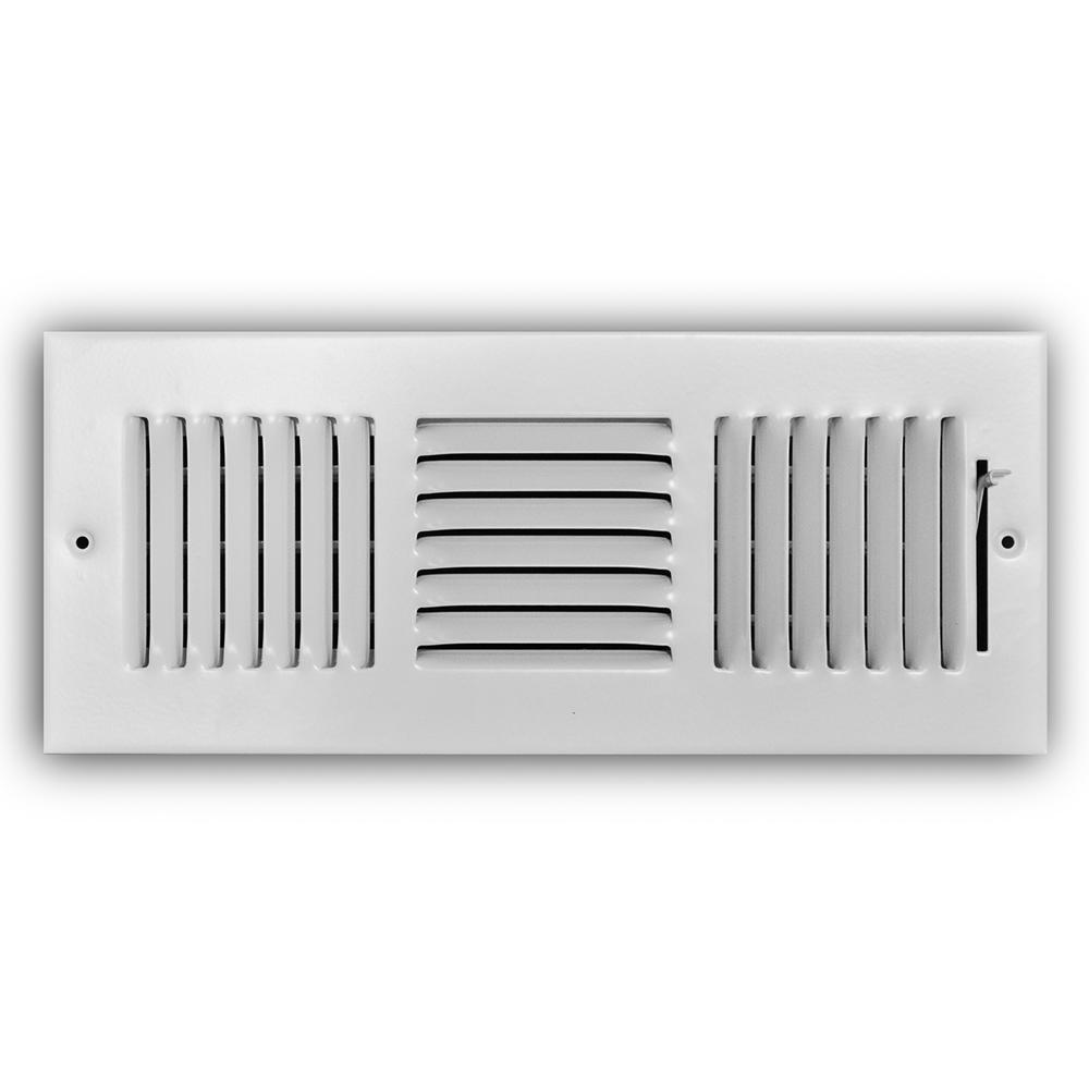 12 in. x 4 in. 3-Way Wall/Ceiling Register