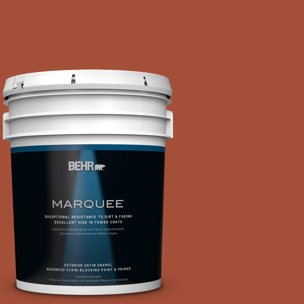 BEHR MARQUEE 5-gal. #S-H-210 New Penny Satin Enamel Exterior Paint