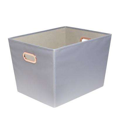60 Qt. Gray With Copper Handles Canvas Tote