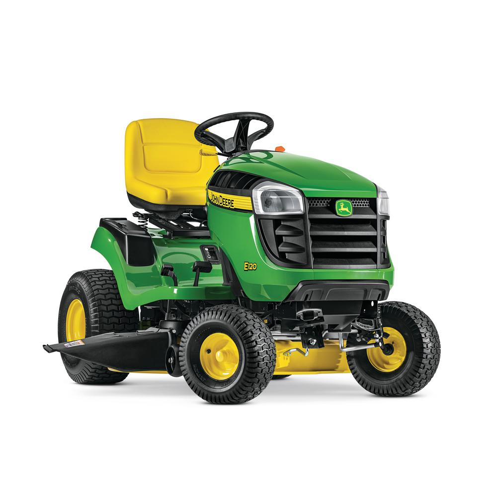 John Deere E120 42 in. 20 HP V-Twin Gas Hydrostatic Lawn Tractor