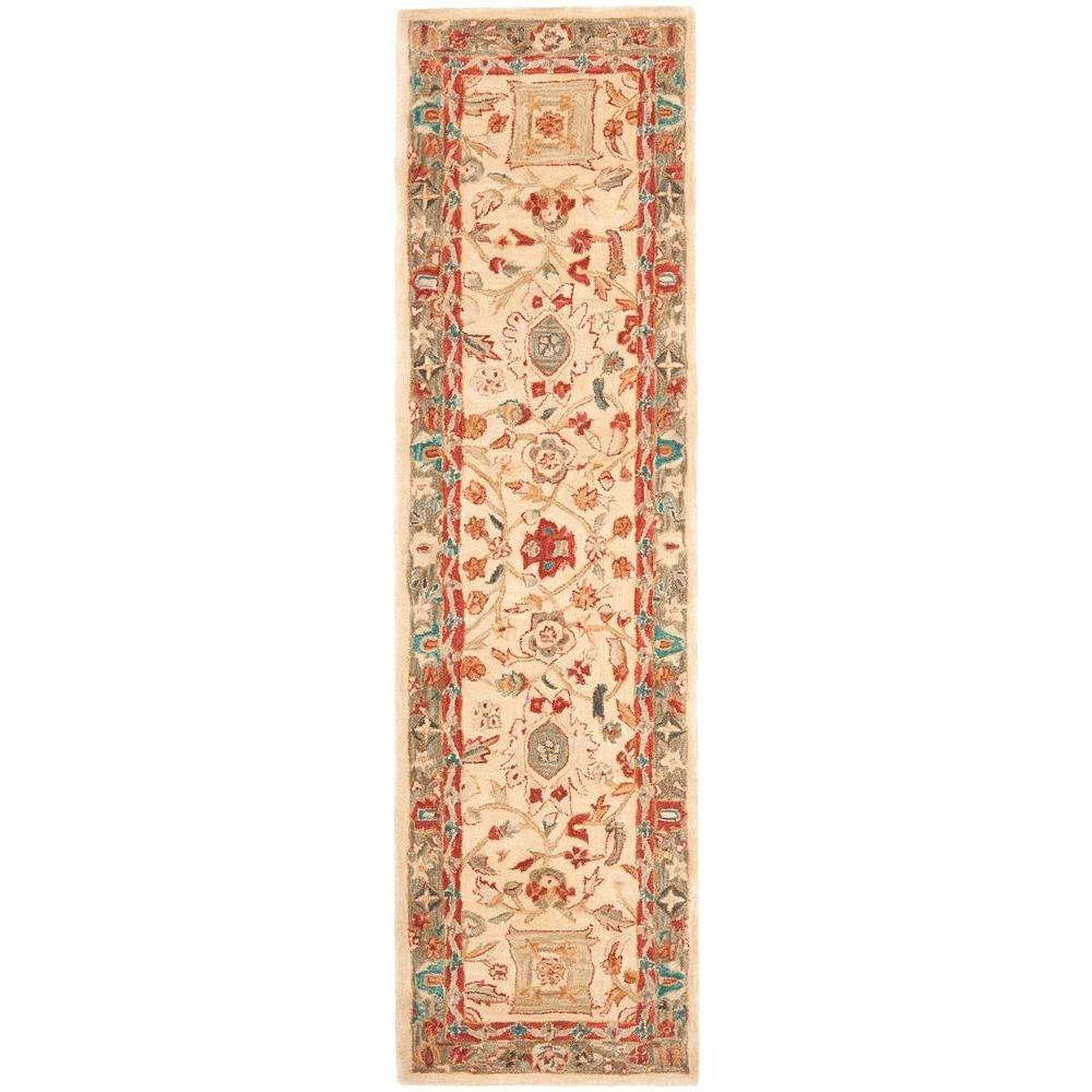 Safavieh Anatolia Beige/Green 2 ft. 3 in. x 10 ft. Runner