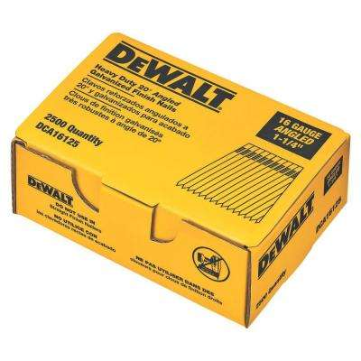 1-1/4 in. 16-Gauge 20 Angled Finish Nails (2500 per Box)