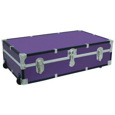 Under the Bed Footlocker Purple Storage Trunk