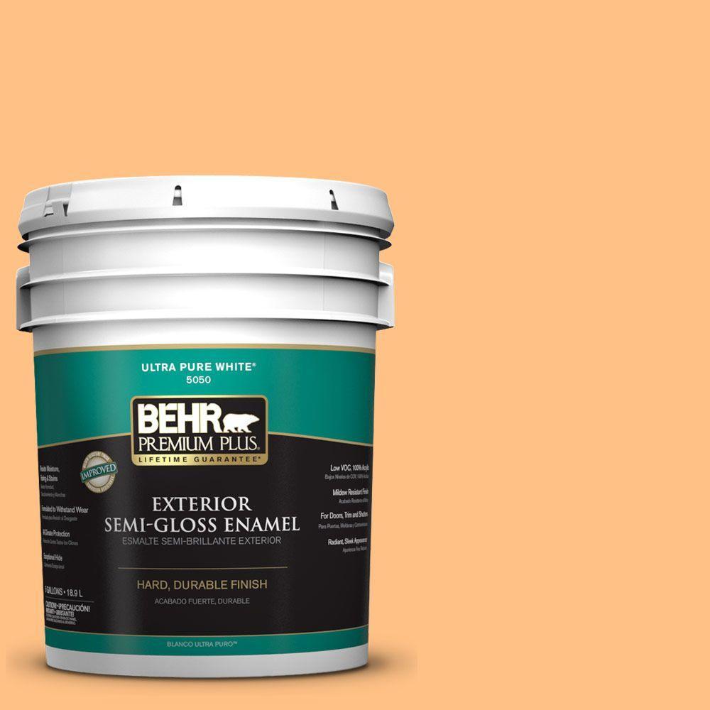 5-gal. #PMD-68 Amber Sun Semi-Gloss Enamel Exterior Paint