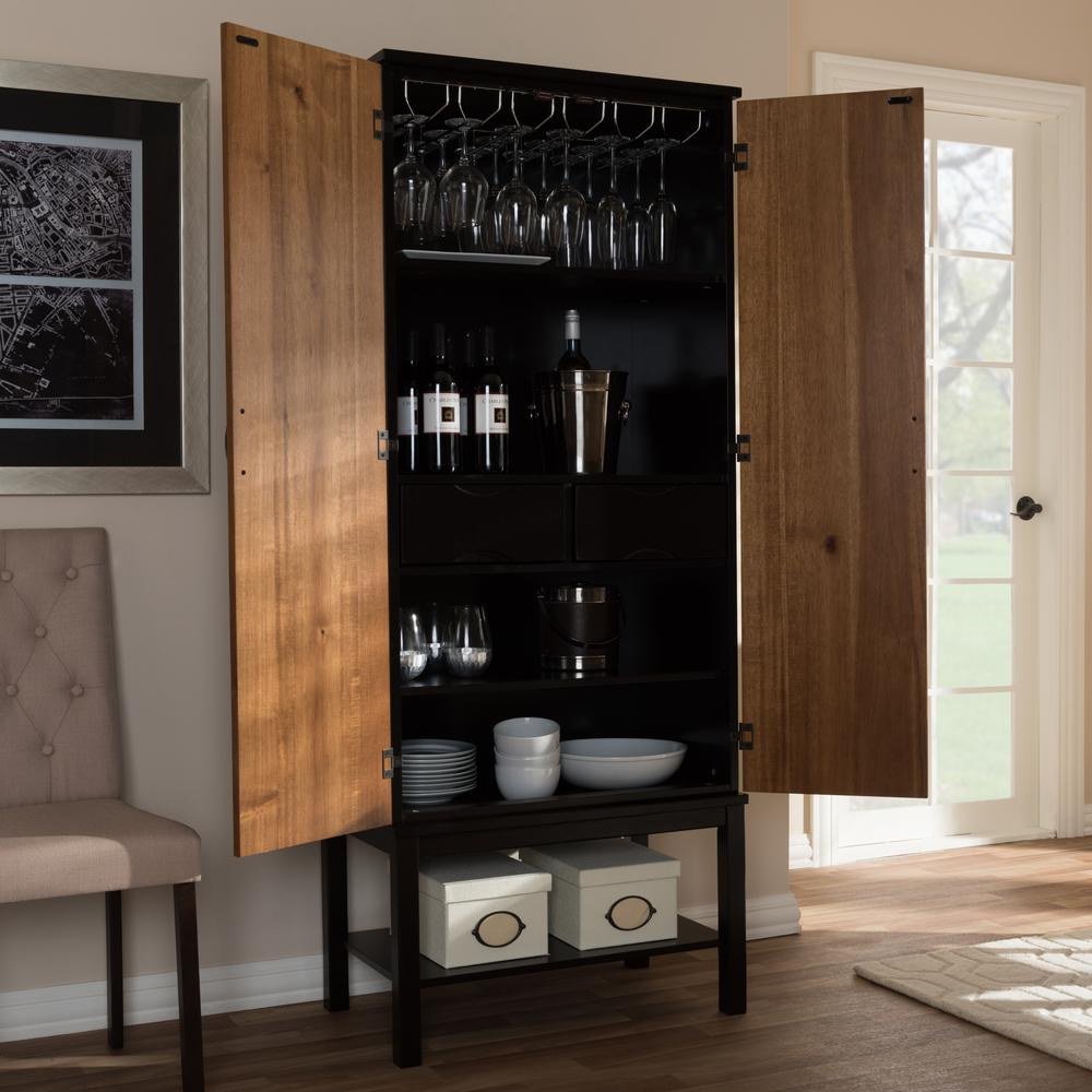 Marya 20-Bottle Brown Wine Cabinet